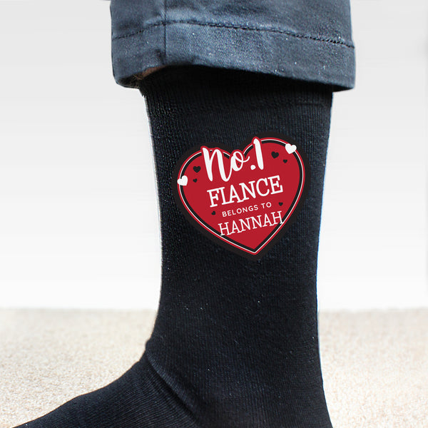 Personalised Hearts No.1 Men's Socks from Sassy Bloom Gifts - alternative view