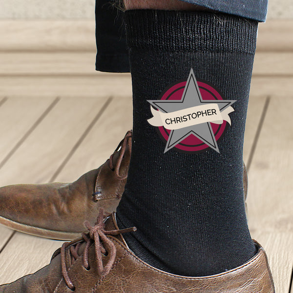 Personalised Star Men's Socks from Sassy Bloom Gifts - alternative view