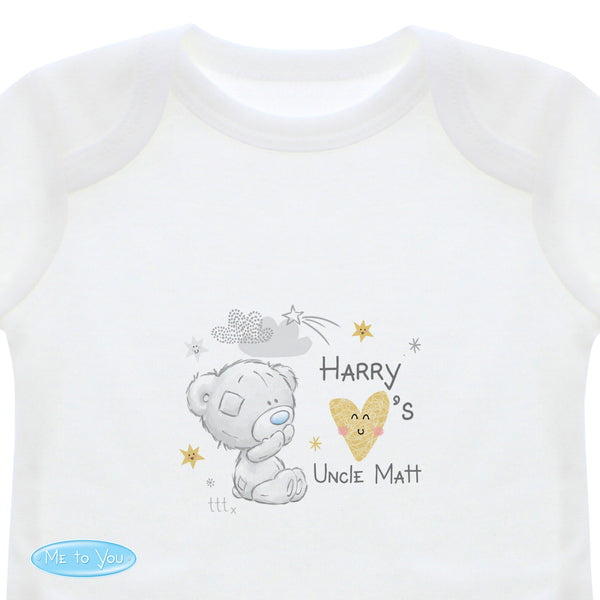 Personalised Tiny Tatty Teddy I Heart 0-3 Months Long Sleeved Baby Vest