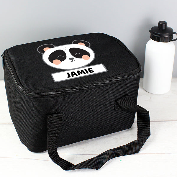 Personalised Panda Black Lunch Bag from Sassy Bloom Gifts - alternative view