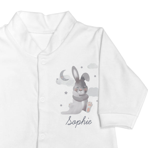 Personalised Baby Bunny Babygrow 0-3 months from Sassy Bloom Gifts - alternative view