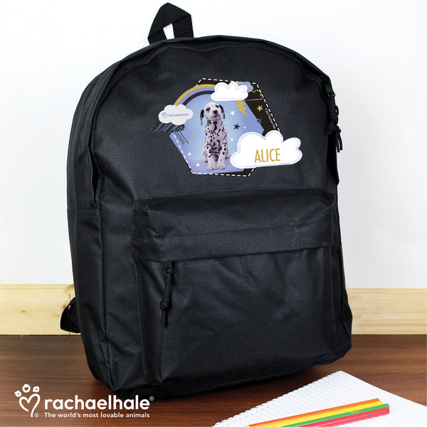 Personalised Rachael Hale Dalmatian Black Backpack from Sassy Bloom Gifts - alternative view