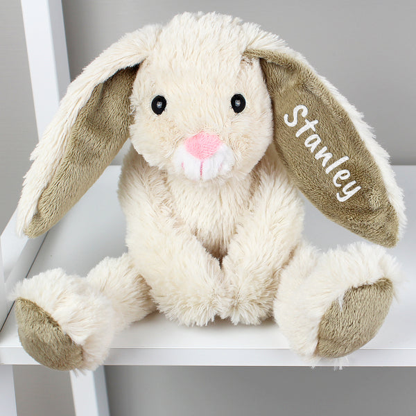 Personalised Bunny Soft Toy Arms Crossed Stanley