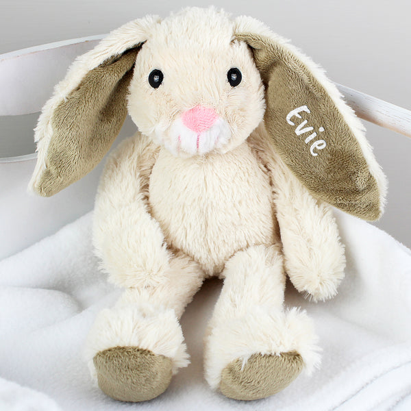 Personalised Bunny Soft Toy Sitting Evie
