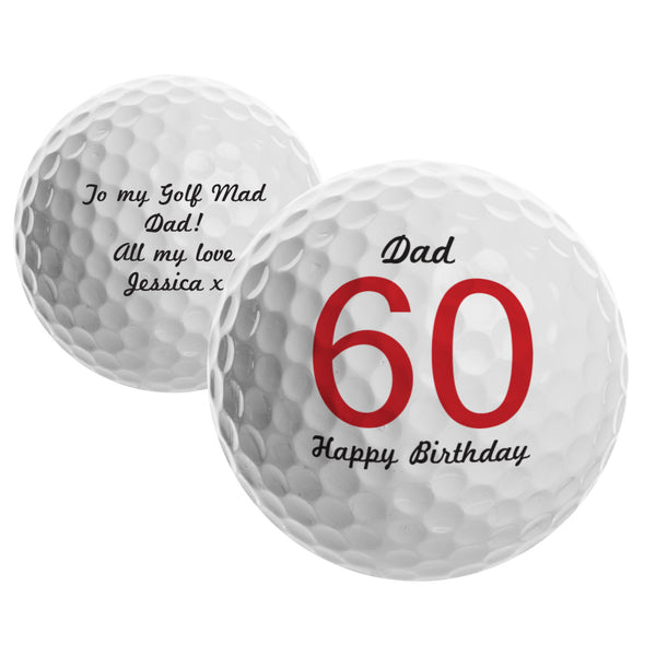 Personalised Big Numbers Birthday Golf Ball from Sassy Bloom Gifts - alternative view