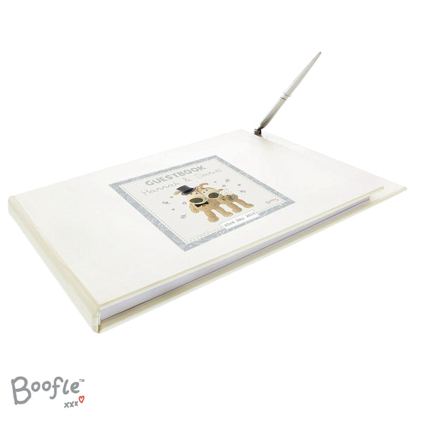 Personalised Boofle Wedding Guest Book & Pen from Sassy Bloom Gifts - alternative view