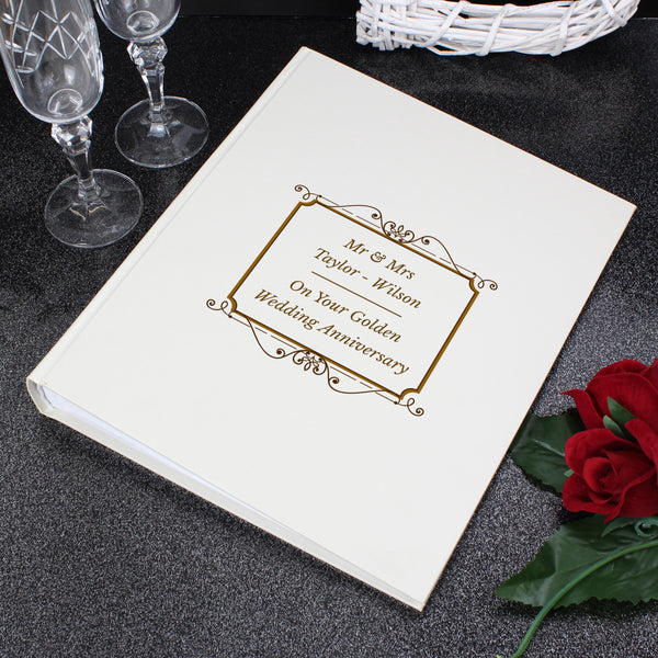 Personalised Gold Album With Sleeves with personalised name