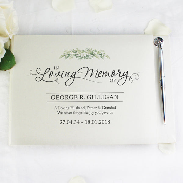 Personalised In Loving Memory Guest Book & Pen from Sassy Bloom Gifts - alternative view