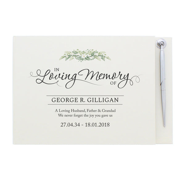 Personalised In Loving Memory Guest Book & Pen lifestyle image