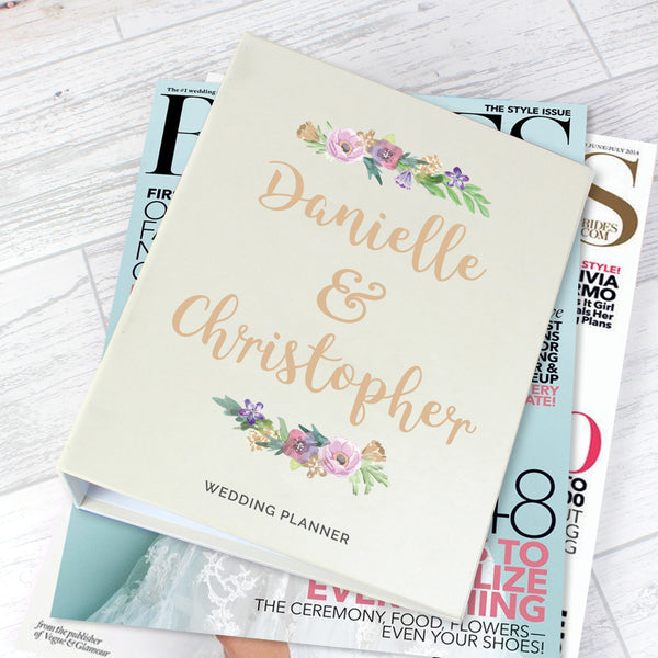 Personalised Floral Watercolour Wedding Planner from Sassy Bloom Gifts - alternative view