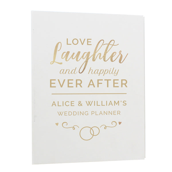 Personalised Happily Ever After Wedding Planner white background