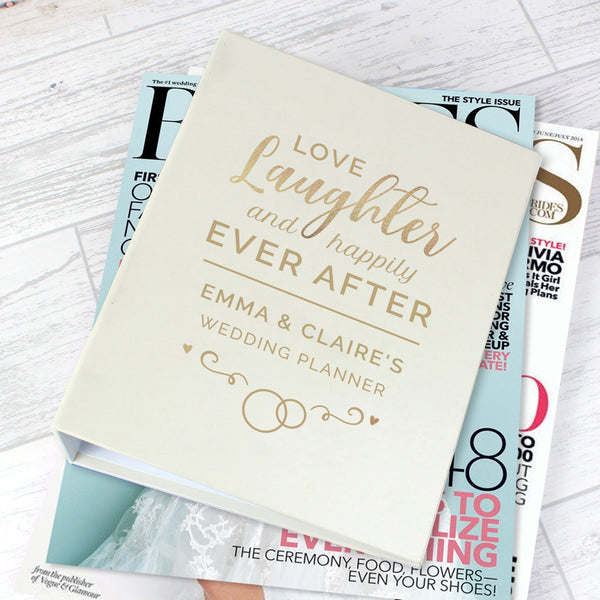 Personalised Happily Ever After Wedding Planner from Sassy Bloom Gifts - alternative view