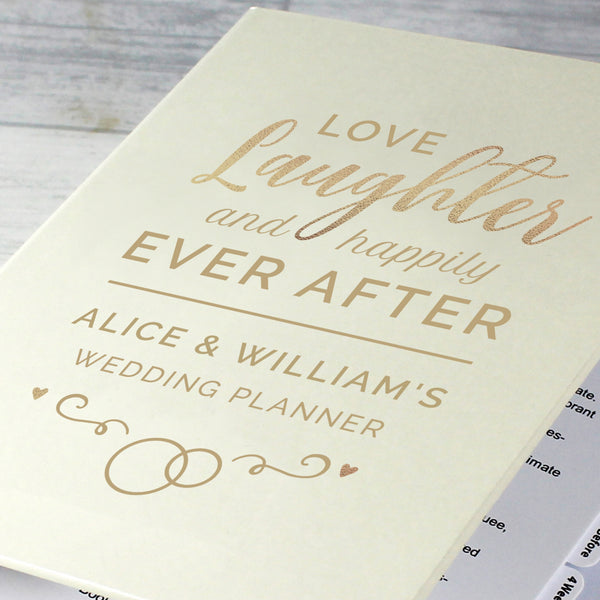 Personalised Happily Ever After Wedding Planner with personalised name