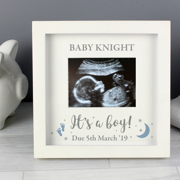 Personalised 'It's A Boy' Baby Scan Frame from Sassy Bloom Gifts - alternative view