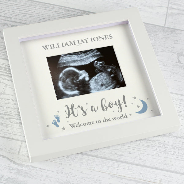 Personalised 'It's A Boy' Baby Scan Frame lifestyle image