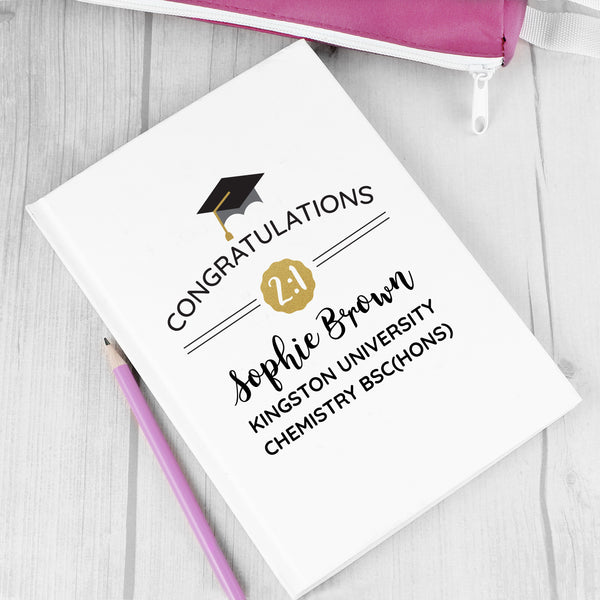 Personalised Graduation Hardback A5 Notebook from Sassy Bloom Gifts - alternative view