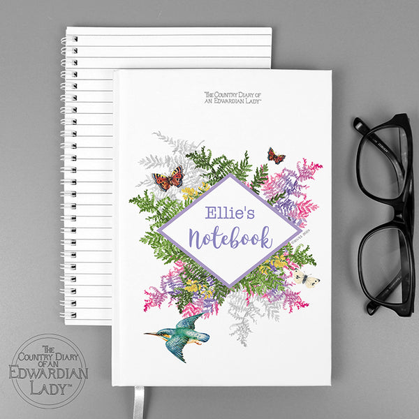 Personalised Country Diary Botanical Hardback A5 Notebook