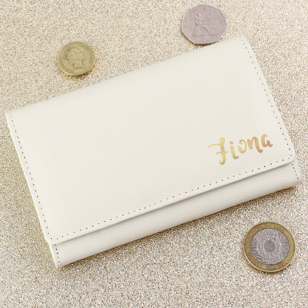 Personalised Gold Name Cream Purse from Sassy Bloom Gifts - alternative view