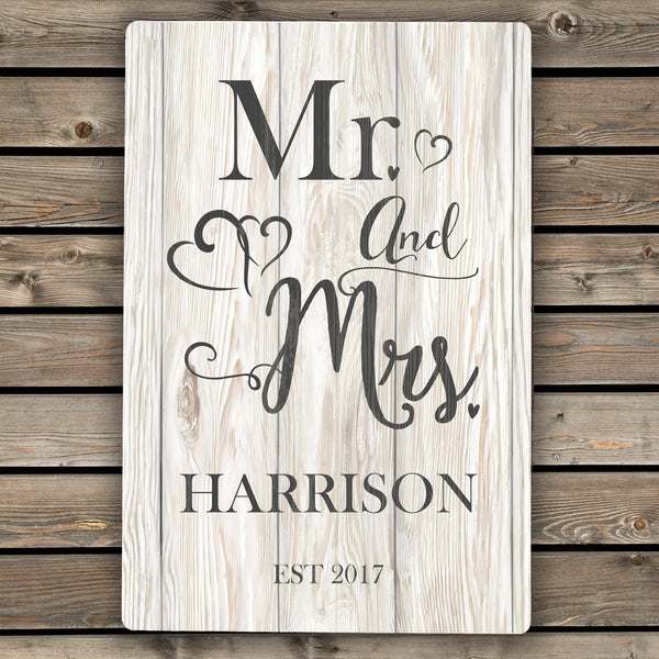 Personalised Mr & Mrs Metal Sign from Sassy Bloom Gifts - alternative view