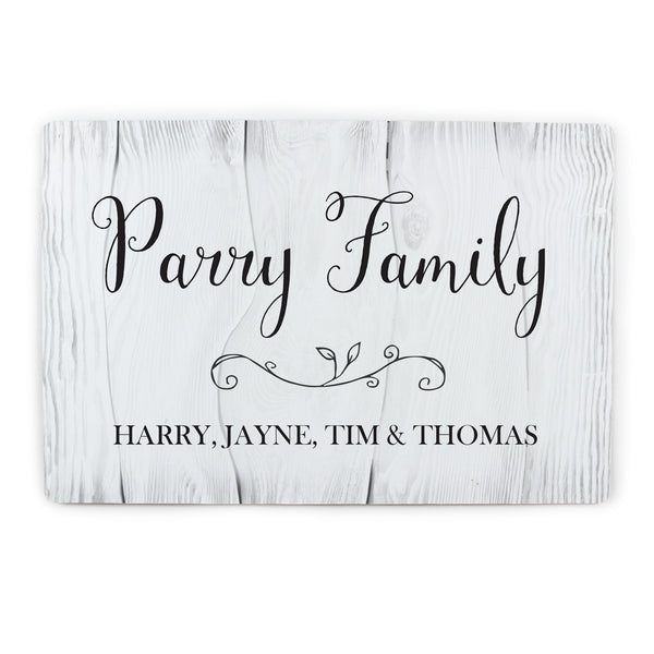 Personalised Rustic Metal Sign white background