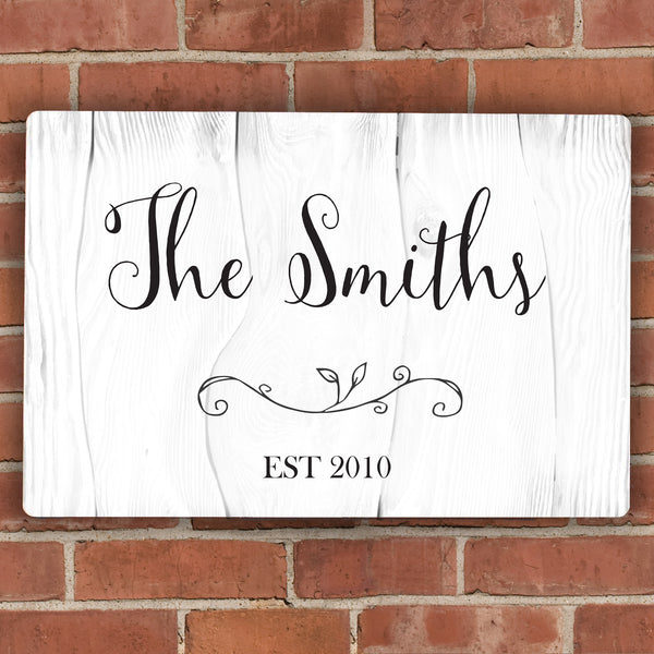 Personalised Rustic Metal Sign from Sassy Bloom Gifts - alternative view