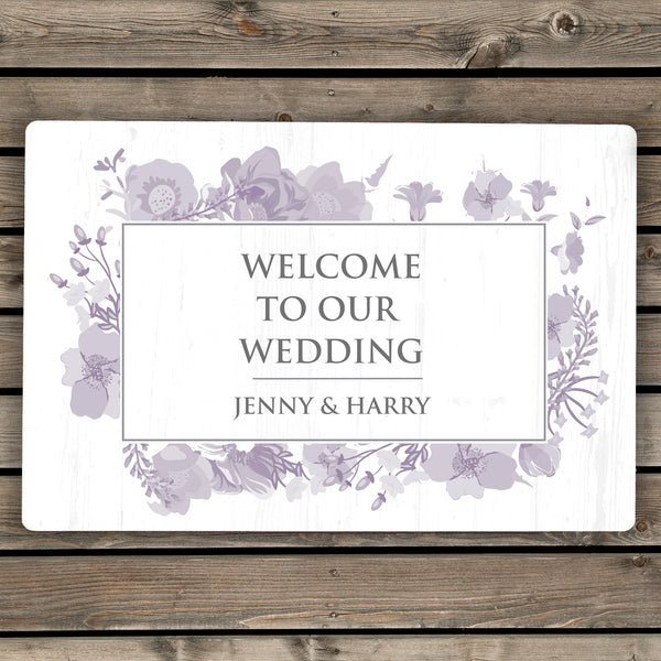 Personalised Soft Watercolour Metal Sign from Sassy Bloom Gifts - alternative view
