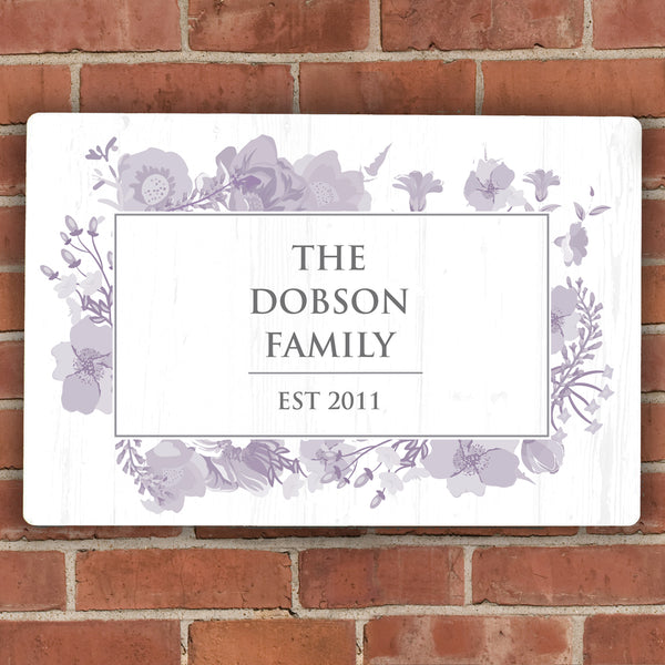 Personalised Soft Watercolour Metal Sign lifestyle image