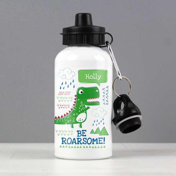 Personalised 'Be Roarsome' Dinosaur Drinks Bottle from Sassy Bloom Gifts - alternative view