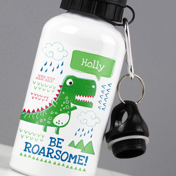 Personalised 'Be Roarsome' Dinosaur Drinks Bottle lifestyle image
