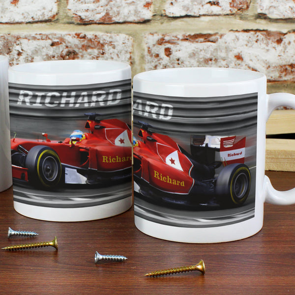 Personalised Formula 1 Mug from Sassy Bloom Gifts - alternative view