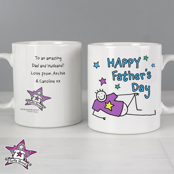 Personalised Purple Ronnie Father's Day Mug from Sassy Bloom Gifts - alternative view