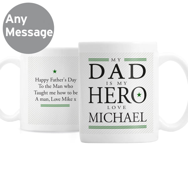 Personalised My Dad is My Hero Mug from Sassy Bloom Gifts - alternative view