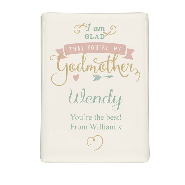 Personalised I Am Glad... Godmother Fridge Magnet lifestyle image