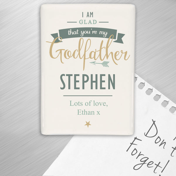 Personalised I Am Glad... Godfather Fridge Magnet from Sassy Bloom Gifts - alternative view