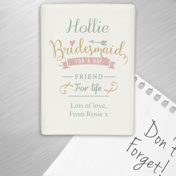 Personalised I Am Glad... Bridesmaid Fridge Magnet from Sassy Bloom Gifts - alternative view
