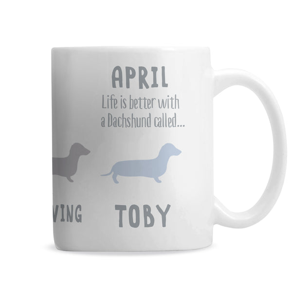 Personalised Dachshund Dog Breed Mug from Sassy Bloom Gifts - alternative view