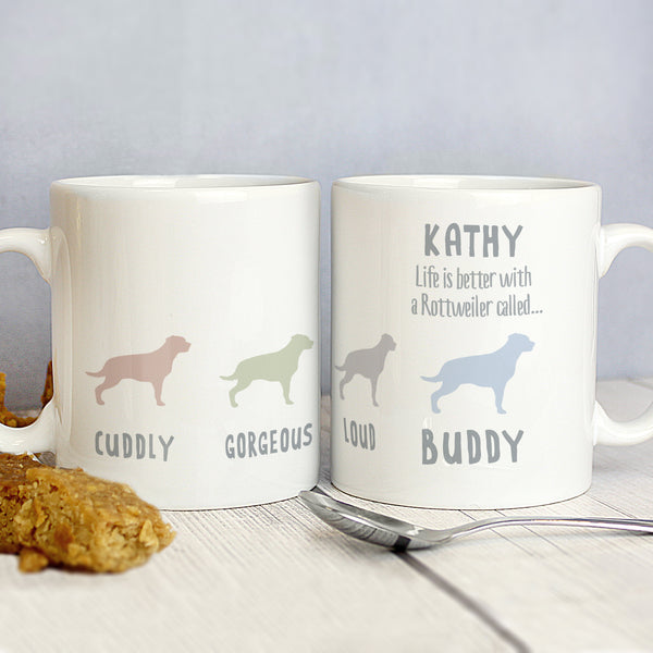 Personalised Rottweiler Dog Breed Mug lifestyle image
