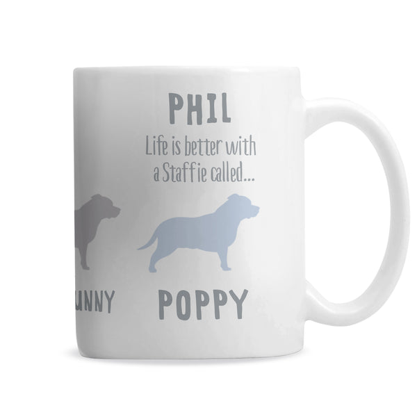 Personalised Staffordshire Bull Terrier Dog Breed Mug from Sassy Bloom Gifts - alternative view