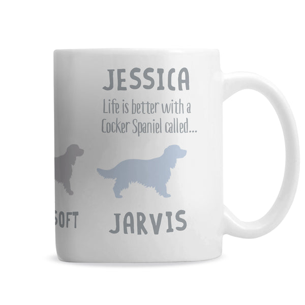 Personalised Cocker Spaniel Dog Breed Mug from Sassy Bloom Gifts - alternative view
