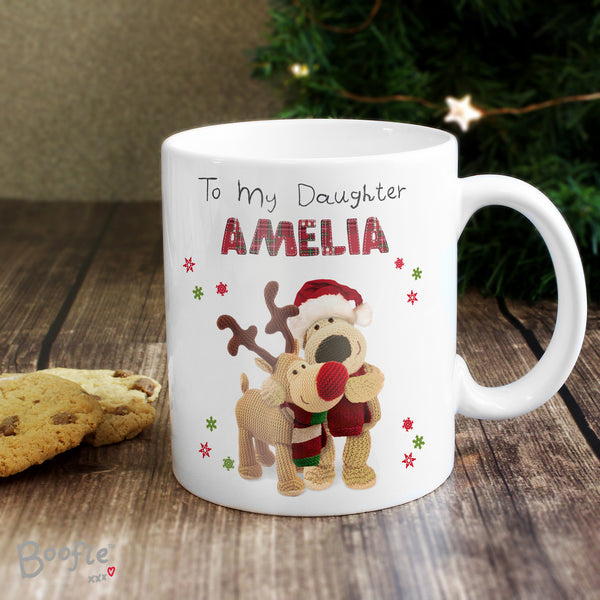 Personalised Boofle Christmas Reindeer Mug from Sassy Bloom Gifts - alternative view