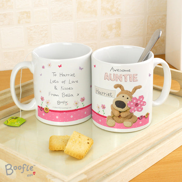 Personalised Boofle Flowers Mug from Sassy Bloom Gifts - alternative view