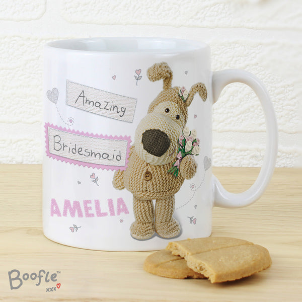 Personalised Boofle Female Wedding Mug from Sassy Bloom Gifts - alternative view