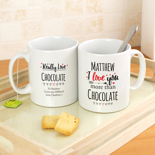 Personalised I Love You More Than... Mug with personalised name