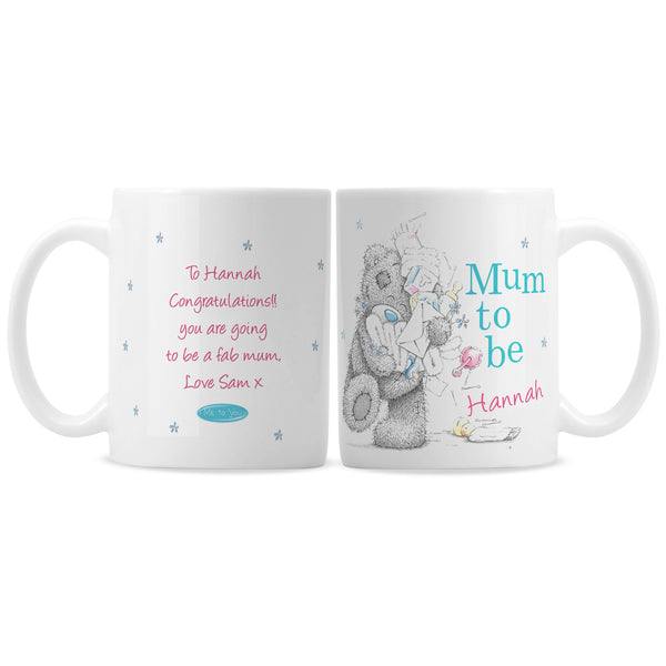 Personalised Me to You Mum to Be Mug white background