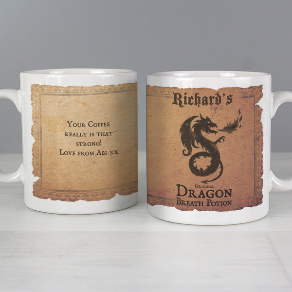 Personalised Dragon Breath Potion Mug lifestyle image