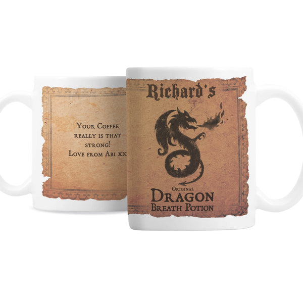 Personalised Dragon Breath Potion Mug with personalised name