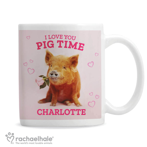 Personalised Rachael Hale 'I Love You Pig Time' Mug white background