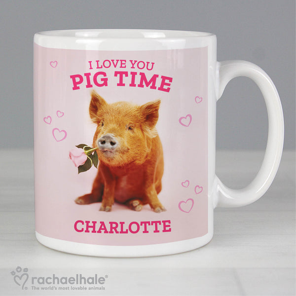 Personalised Rachael Hale 'I Love You Pig Time' Mug from Sassy Bloom Gifts - alternative view