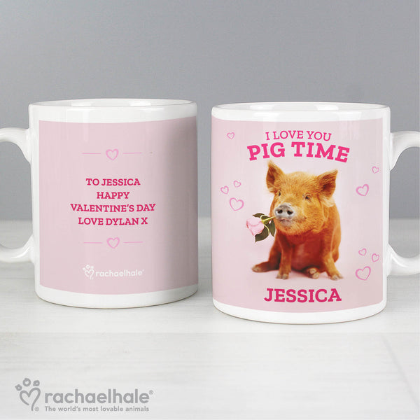 Personalised Rachael Hale 'I Love You Pig Time' Mug lifestyle image