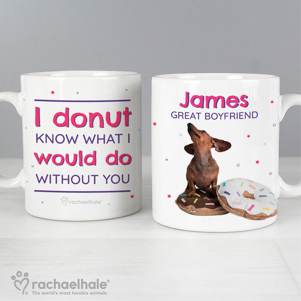 Personalised Rachael Hale 'I Donut Know' Mug from Sassy Bloom Gifts - alternative view